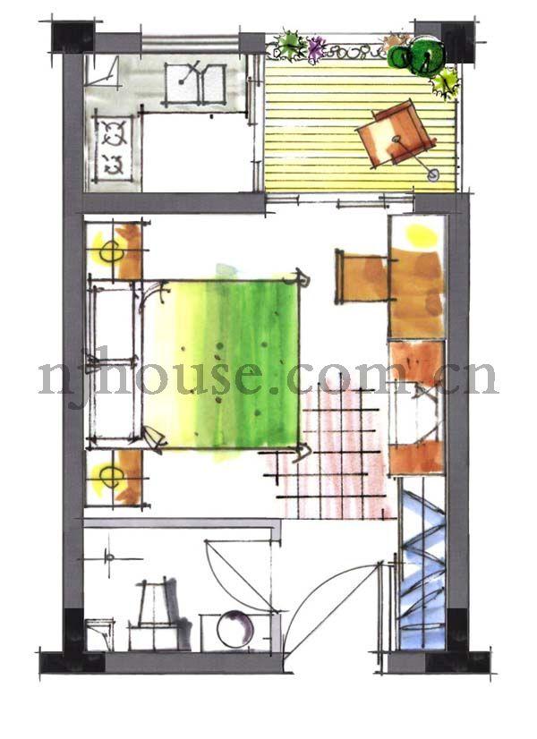 20平米单身公寓设计图