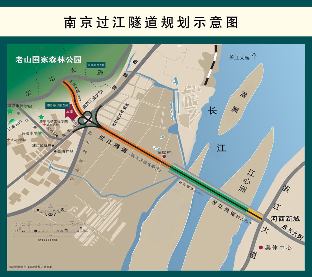 过江隧道规划示意图